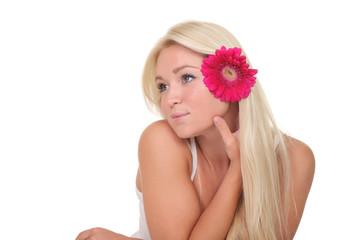 portrait of a cute blonde