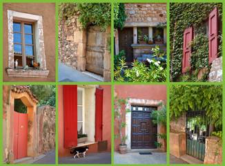 Carte Postale - Portes et fenêtres à Roussillon 02