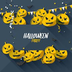 Halloween greeting card - flat design style