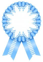 Octoberfest Award Badge Edelweiss Light Blue