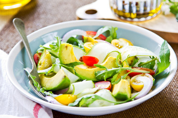 Avocado with Rocket salad