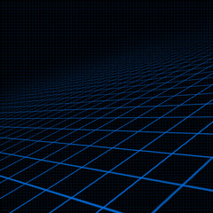 Background with blue inclined grid