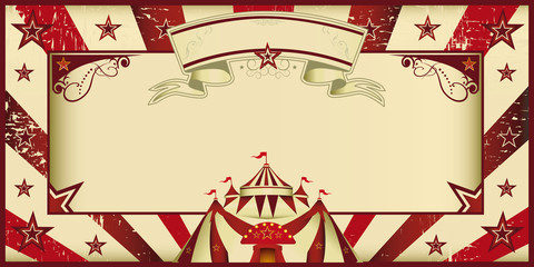 Red vintage circus invitation