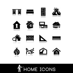 Home icons - Vector set