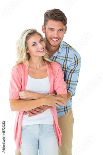 canvas print picture Attractive young couple smiling together