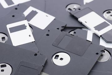 Old floppy disk.