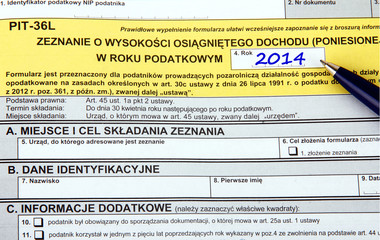 Polish tax forms, PIT-36L