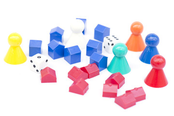 Monopoly game play isolated.