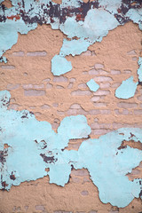 Old decayed wall paint