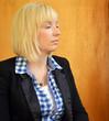 blonde Frau in Meditation