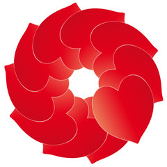 Kreis - Herzen