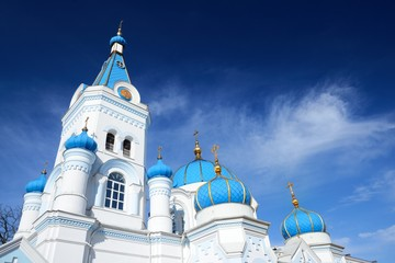 White Orthodox church in Elgava, Latvia
