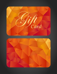 Luxury gift card - top and bottom side