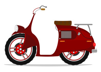 Funny cartoon scooter. Vector