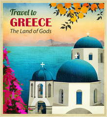 Travel to Greece Poster
