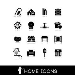 Home icons - Domicile icon - Vectors set
