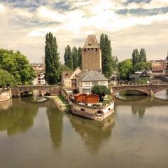 Ponti sul fiume Ill Strasburgo, Francia