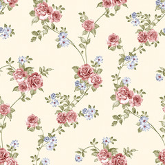 flowers seamless pattern background - For easy making seamless p