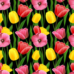 Tulip seamless background