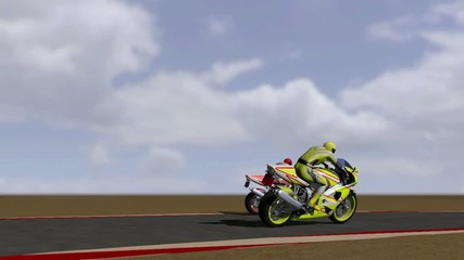Animation of motorcycle races 3D