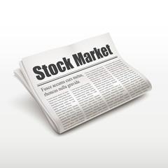 stock market words on newspaper