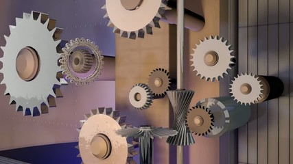 The mechanism from gears
