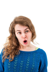 Young woman making a funny grimace