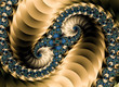 Постер, плакат: Beautiful Colorful Spiral Fractals