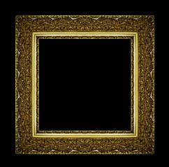 Goldener Bilderrahmen vor Schwarz