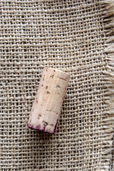 cork on burlap