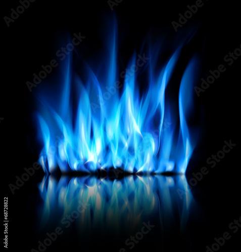 Fotobehang Vuur / Vlam Blaue Flammen