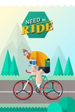 vector bike rider