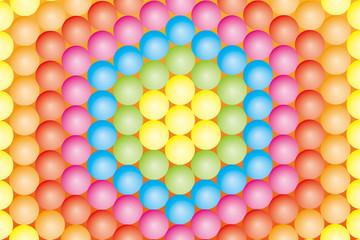 背景素材壁紙(敷き詰められたカラーボール, 虹色, レインボー, 七色)