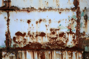 rusty metal wall