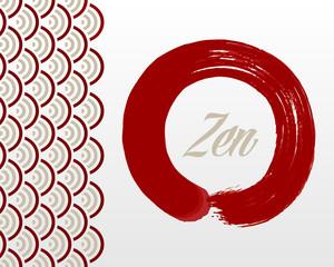 Zen circle background