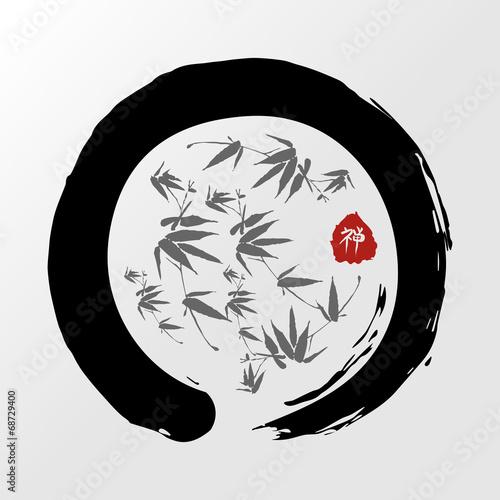 Zen circle illustration - 68729400