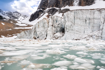 Glacier of Mount Edith Cavell, Jasper National Park (Canada)