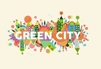 Green City concept illustration