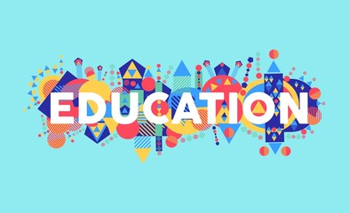 Creative Education concept font illustration