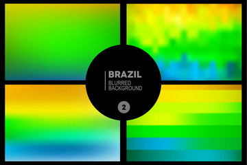Brazil blurred backgrounds set
