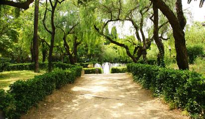 Jardines con fuente circular, Montjuic, Barcelona