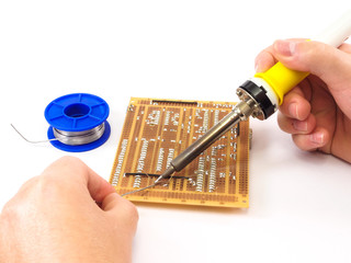 Soldering An Electronics Board