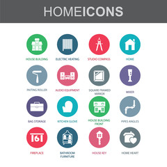 Home  - Room interior - Vectors set