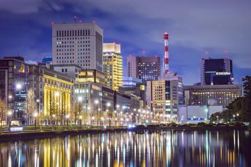 Tokyo, Japan Cityscape at Marunouchi Business District