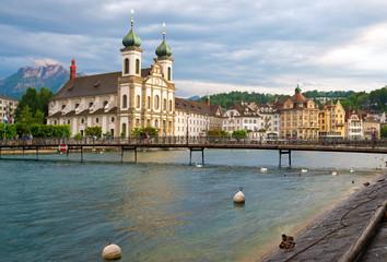 Jesuitenkirche und Pilatus Luzern