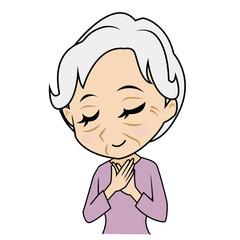 安心するおばあさん