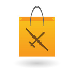 Shopping bag with a drone icon