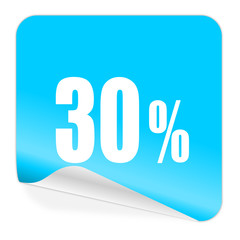 30 percent blue sticker icon