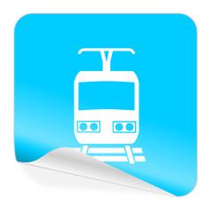 train blue sticker icon