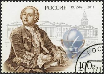 RUSSIA - 2011: shows M.V. Lomonosov (1711-1765)